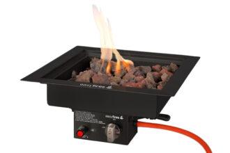Easyfires Inbouwbrander Vierkant Zwart 40×40 Cm