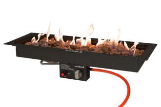 Easyfires Inbouwbrander Zwart 76×26 Cm