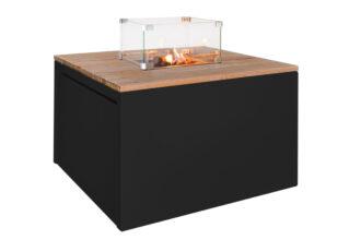 Vuurtafel Cube Vierkant (zwart)
